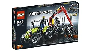 lego technic 8049 traktor mit forstkran spielzeug. Black Bedroom Furniture Sets. Home Design Ideas