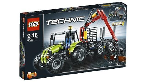 lego technic 8049 traktor mit forstkran. Black Bedroom Furniture Sets. Home Design Ideas