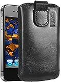 mumbi ECHT Ledertasche iPhone 4 4S Tasche Leder Etui - Lasche mit Rückzugfunktion Ausziehhilfe