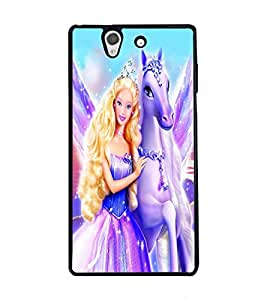 PRINTSWAG ANGEL WITH HORSE Designer Back Cover Case for SONY XPERIA Z