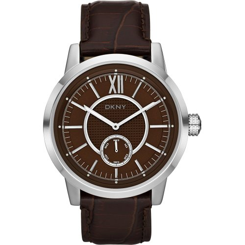DKNY Gents Casual Brown Leather Strap Watch NY1521