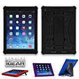 iPad Mini Slim Tough Case G4 - Multiple Kickstands and Screen Protector - Compatible with 1st gen Mini and 2nd gen with Retina Display (Black)