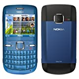 Nokia C3 - 00 Blue Wi Fi (nl cv blue) sime free unlocked to all networks mobile phone
