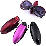 JOVIVI® Pair(2) Black,Red, Purple Plastic Sunglasses Eyeglasses Sun Clip Holder Visor For Car Vehicle Tool