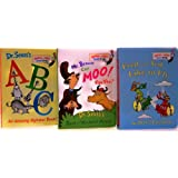Bright and Early Board Books - 3 Board Book Set E (Fred and Ted Like to Fly / ABC An Amazing Alphabet Book / Mr. Brown Can Moo! Can You?) ~ Peter Eastman