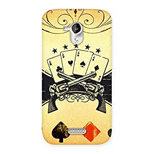 Cute Guns And Cards Back Case Cover for Micromax Canvas HD A116