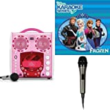 Singing Machine SML-383P CDG Karaoke Player With Disney's Frozen Karaoke CD, and Extra Microphone Bundle