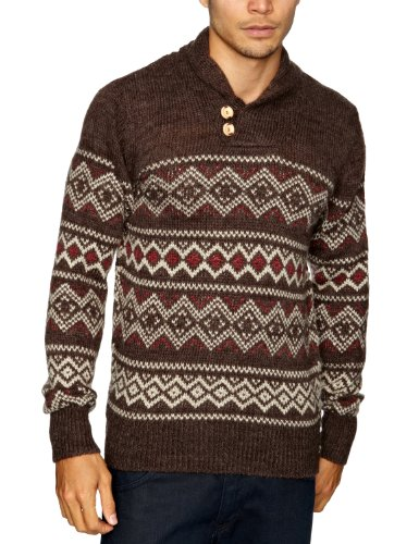 Tommy Hilfiger Smiths Long Sleeve Men's Jumper Cocoa Heather/Linen Heather Large