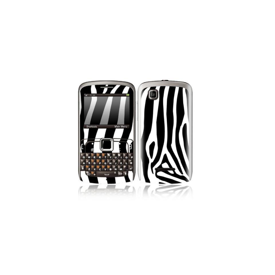 Zebra Print Design Decorative Skin Cover Decal Sticker for Motorola EX115 Cell Phone