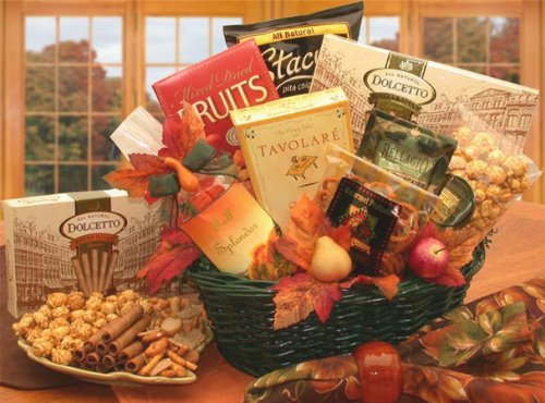 Thanksgiving Gift Basket: Fall Treats Gourmet Basket
