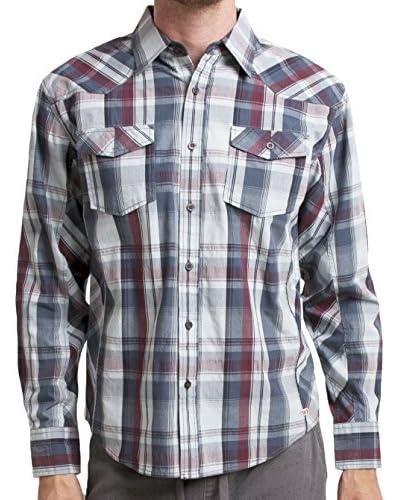 Micros Men's Kubrick Long Sleeve Plaid Woven Shirt
