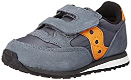 Saucony Jazz Hook and Loop Sneaker (Toddler/Little Kid),Grey/Orange,9.5 M US Toddler