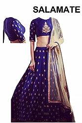 Shree Ganesh Women's Designer Multi-Coloured Silk Semi-Stitched Lahenga Choli [L104_Multi-Coloured]