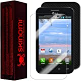 Skinomi® TechSkin - LG Optimus Dynamic II Screen Protector + Carbon Fiber Full Body Skin Protector / Front & Back... by Skinomi