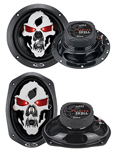 "2) Boss Sk653 6.5"" 350W + 2) Sk693 6X9"" 600W 3-Way Car Coaxial Audio Speakers"