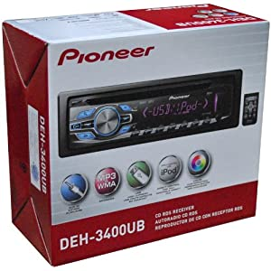 8. Pioneer DEH3400 / DEH-3400UB / DEH-3400UB CD Receiver with USB and Aux Input. Precio: $84.30
