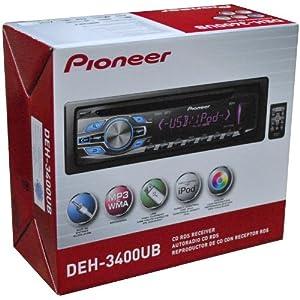 8. Pioneer DEH3400 / DEH-3400UB / DEH-3400UB CD Receiver with USB and Aux Input. Precio: $84.30