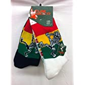 Flow Society Authentic Lacrosse Gear Socks Rasta Skeleton One White, One Black pair (This is a pack of 2 pairs of socks.) Size Medium Fits Shoe 4-8.5