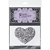 Paper Parachute UMCS555 Graphic Heart Cling Rubber Stamps, 3.75