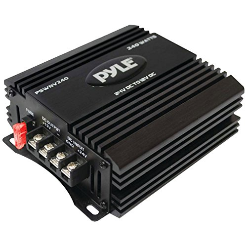 Pyle PSWNV240 24V DC to 12V DC Power Step Down 240 Watt Converter with PMW Technology