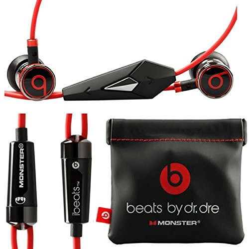 Monster Beats By Dr Dre Ibeats in Ear Headphones Earphones Black NEW