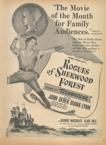 John Derek Diana Lynn Rogues Of Sherwood Forest Ad 1950