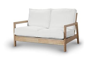 Dekoria Fire Retardant IKEA lillberg Housse de Canapé 2Places–Abat-jour doux (Blanc chaud)