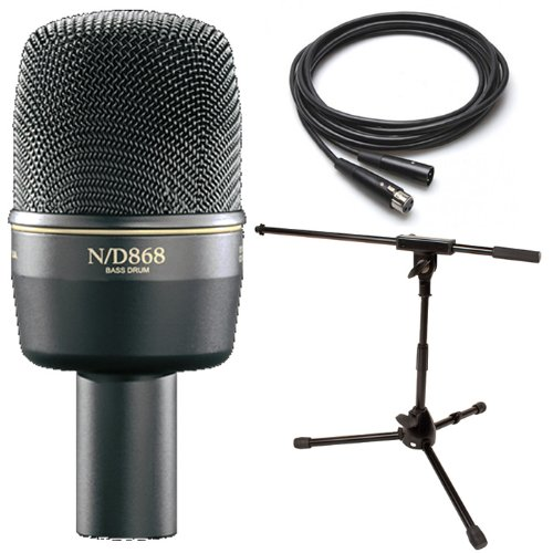 Ev Electro-Voice Nd868 Bass Drum Microphone W/Jamstands Kick Mic Stand 25' Cable