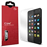 iCarez® [HD Clear] for Amazon Fire Phone Highest Quality Premium Screen protector High Definition Ultra Clear & Anti Bacterial & Anti-Oil & Anti Scratch & Bubble free & Reduce Fingerprint & No rainbow & washable Screen Protector **PET Film Made in Japan** Easy install & Green healthy Product with Lifetime Replacement Warranty [3-Pack] - Retail Packaging 2014