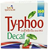 Typhoo 160 Decaf Tea Teabags (Pack of 6, Total 960 Teabags)