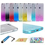 Koo Joee Unique 3 D Combo Protective Cases, Pack Of 9 Pieces Newly Design Soft Clear 3 D Waterdrop Raindrop Ultra Thin Tpu Cases (4.7