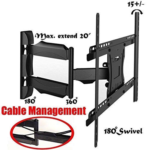 2Xhome - Full Motion Articulating Swivel Arm Corner Single Stud Tilt Lcd Led Tv Monitor Wall Mount 14 22 32 36 40 42 55