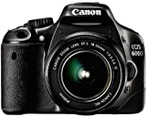 Canon EOS 600D SLR-Digitalkamera (18 Megapixel, 7,6 cm (3 Zoll) schwenkbares Display, Full HD) Kit inkl. EF-S 18-55mm 1