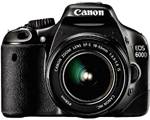 Canon EOS 600D (European EOS Rebel T3i) 18 MP CMOS Digital SLR Camera and DIGIC 4 Imaging with EF-S 18-55mm f/3.5-5.6 IS Lens