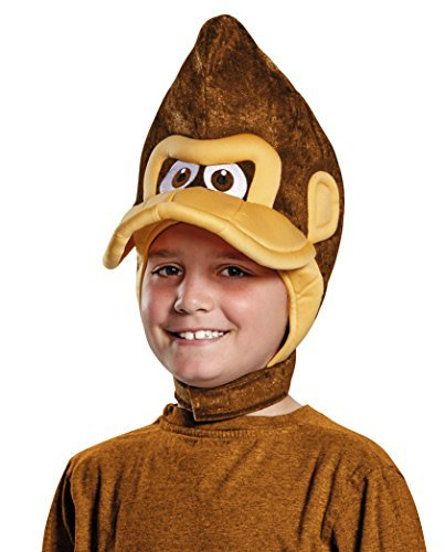 Disguise Donkey Kong Super Mario Bros. Nintendo Child Headpiece, One Size Child, One Color by