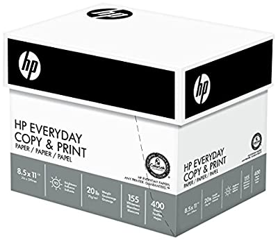 HP Everyday Copy and Print , 20lb, 8-1/2 x 11., 92 Bright, 2400 Sheets/6 Ream Case (200010C)
