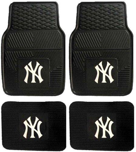 Mlb New York Yankees Car Floor Mats Heavy Duty 4-Piece Vinyl - Front And Rear front-618808