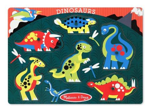 Melissa & Doug Dinosaurs Peg Puzzle - 1
