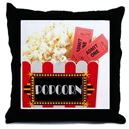 CafePress - Popcorn And Tickets - Throw Pillow, Decorative Accent Pillow (Movie Ticket Accent Pillow compare prices)