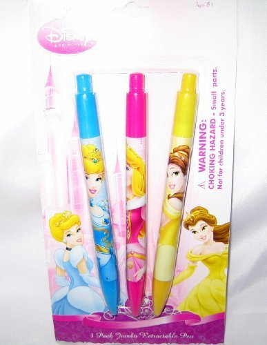 Disney Princess - 3 Pack Jumbo Retractable Pens - 1