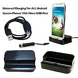 Puerto Universal de Carga para celulares inteligentes Android, con stylus, enchufe anti polvo micro USB 2.0