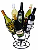 Oenophilia 6-Bottle Bouquet Wine Rack, Black