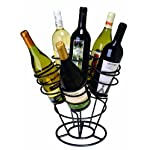 Oenophilia Bottle Bouquet Wine Rack, Black – 6 Bottle