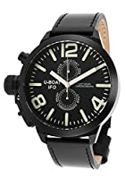 U-Boat Men's Left Hook IFO Limited Edition Chronograph Black Genuine Leather by U-Boat