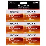 Sony 10DVM60PR-BT miniDV Tapes 10 pac...