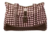 Kalencom Weekender Diaper Bag, Brown with Heavenly Dots Pink