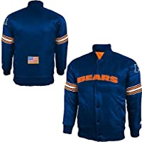 Chicago Bears NFL Youth Team Color Snap Front Varsity Satin Starter Jacket (Youth Medium 10/12) by Outerstuff