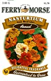 Ferry-Morse Annual Flower Seeds 1099 Nasturtium - Jewel Mixed Colors 3.6 Gram Packet