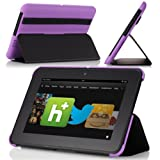 MoKo(TM) Ultra-Lightweight SlimShell Standing Case For Amazon Kindle Fire HD 7 Inch Tablet Purple (with Auto Wake...