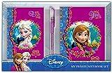 Frozen - Set de 2 cuadernos de notas + bolígrafo glitter, 25 x 18 cm (Factory 52284)